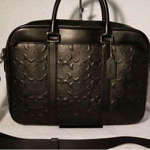 Coach laptop bag, briefcase,  black NWT